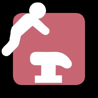 springgymnastik ikon på efterskole