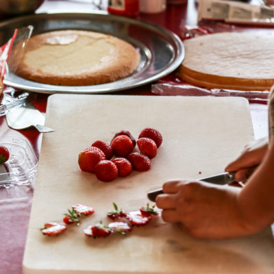 lækkre jordbær til lagkage