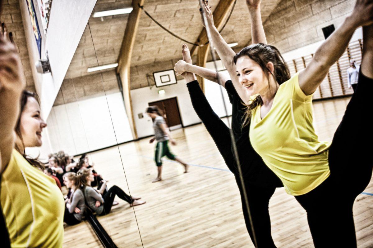 Pigegymnastik på Sorø Gymnastikefterskole