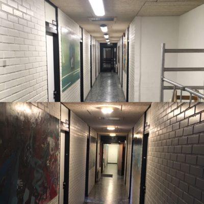 Nyt lys på gangene
