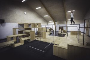Parkourcenter på Sorø Gymnastikefterskole