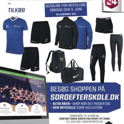 tøjpakken til sorø gymnastikefterskole årgang 17-18