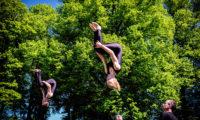 Springgymnastik i det fri på efterskole