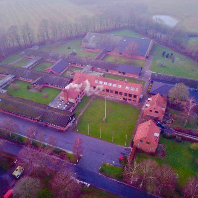 Drone billede af Sorø Gymnastikefterskole