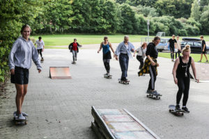Skateboard piger