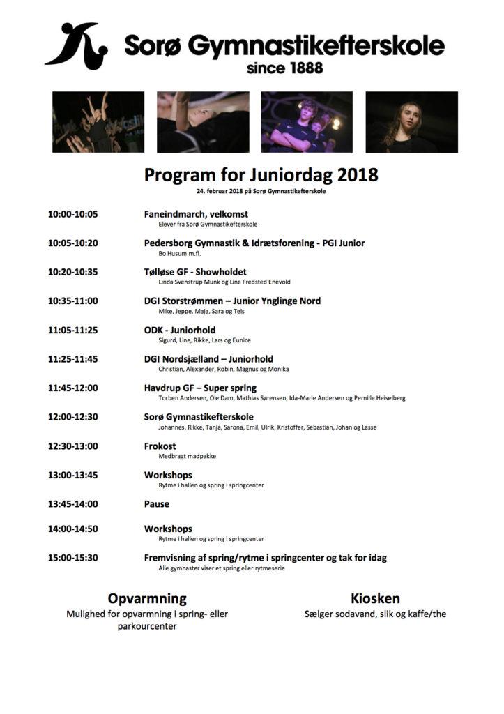 Program for Juniordag 2018