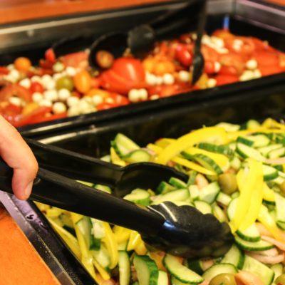 Salatbar på efterskole